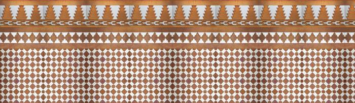 Arabischen kupfer mosaiken