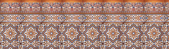 Sevillianischen kupfer mosaiken